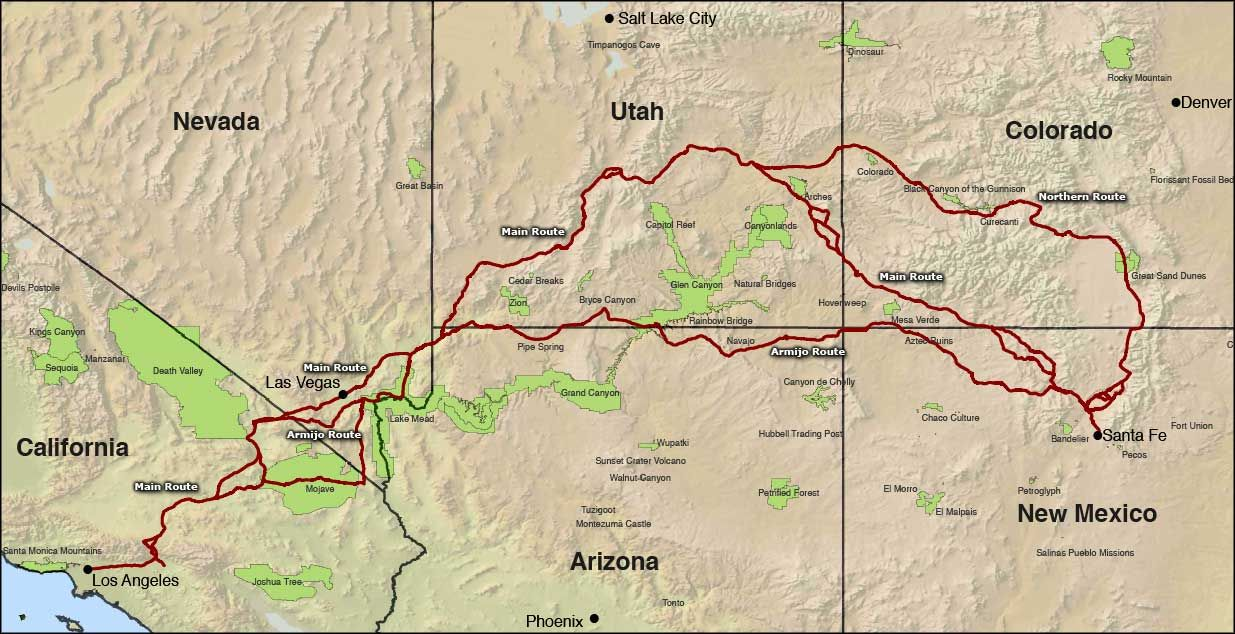 Map Of Arizona Historical Sites.Map Of The Old Spanish National Historic Trail Wanderlust My List