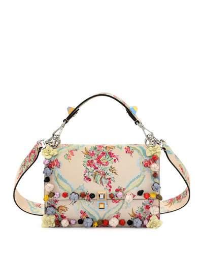 598236ace574 FENDI Kan I Floral Leather Shoulder Bag