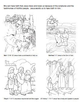 Primary 3 lesson 7 we can have faith in jesus christ for Faith in jesus coloring page