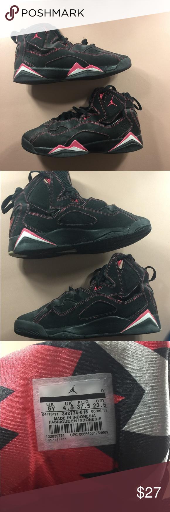 Pink/Black Jordans Pink/Black Jordans!! For Girls, Preloved Jordan Shoes