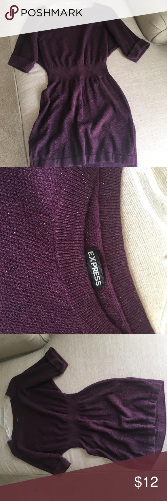 Express Purple Sweater Dress | Express dresses and Purple