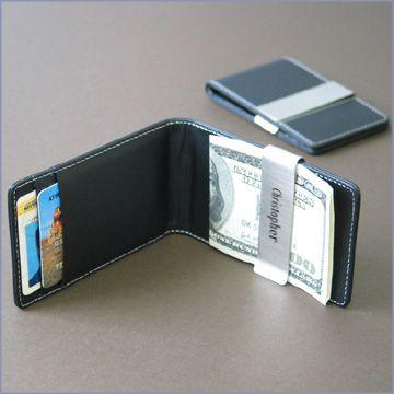leather money clip credit card holder - Money Clip Credit Card Holder
