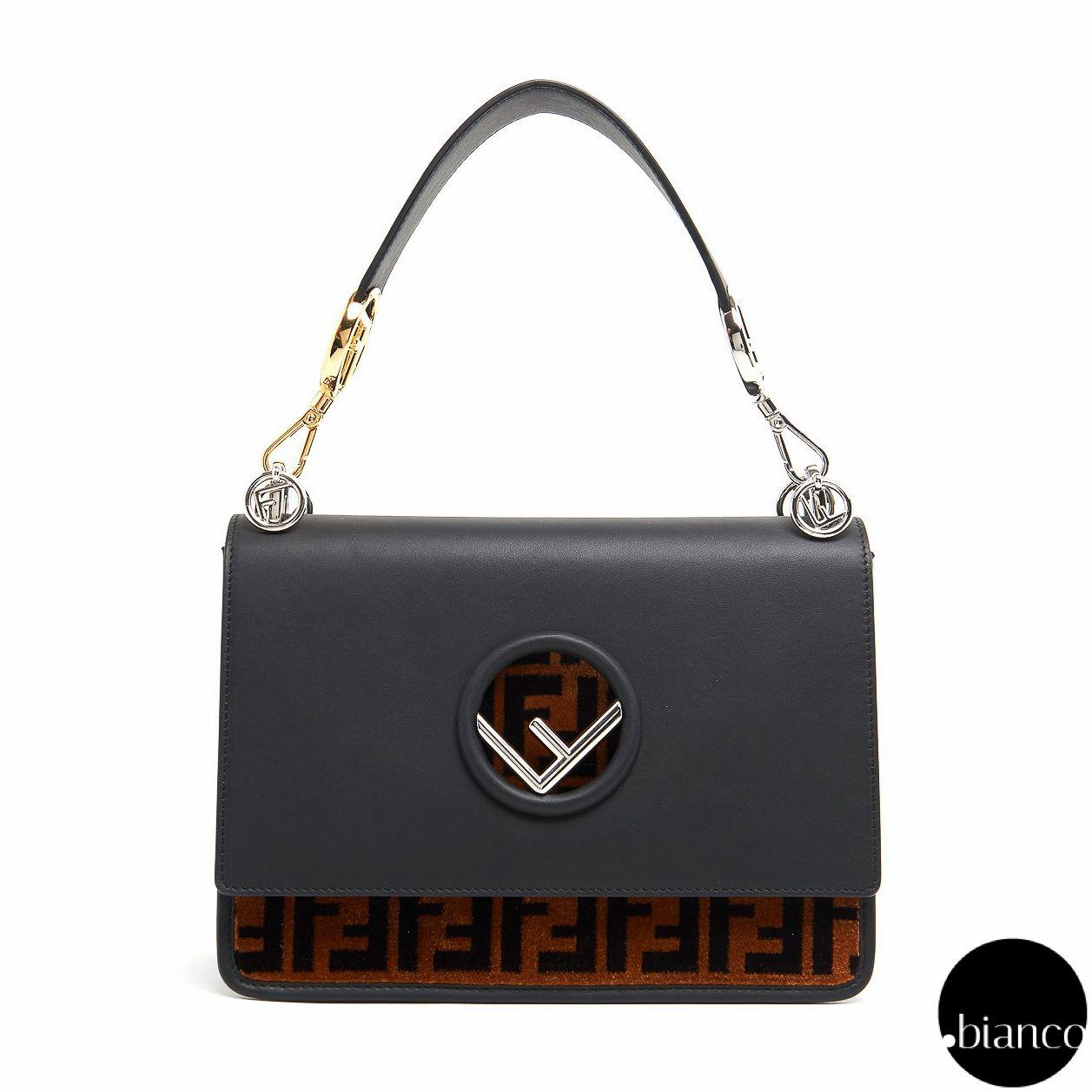 4eacf3a1943b FENDI Shoulder Bags Monoglam Calfskin 2WAY Bi-color Elegant Style Shoulder  Bags