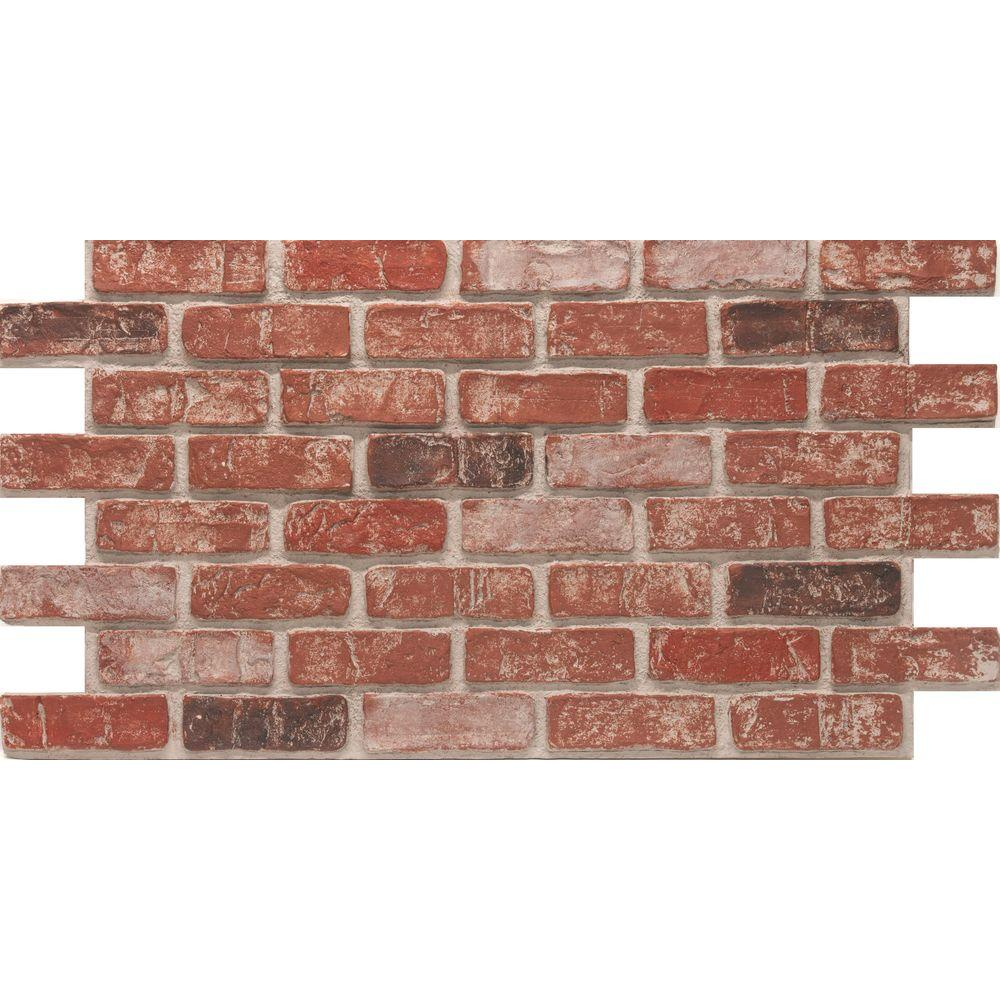 urestone old town 24 in x 46 3 8 in faux used brick panel 4 pack