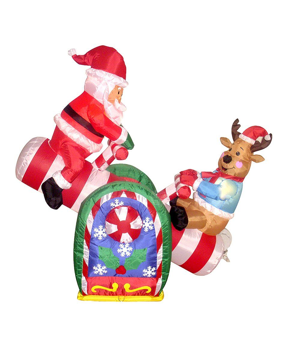 take a look at this animated santa claus reindeer inflatable lawn decoration today jpg 959x1152 christmas