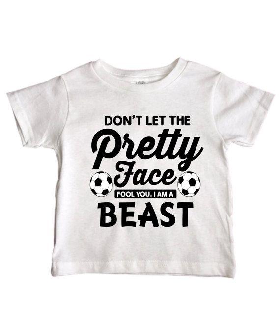 Cute Toddler Girls Soccer Shirt