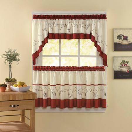 Chf You Grace Kitchen Curtains Set Of 2 Walmart Com Kitchen Curtains Curtains Curtain Decor