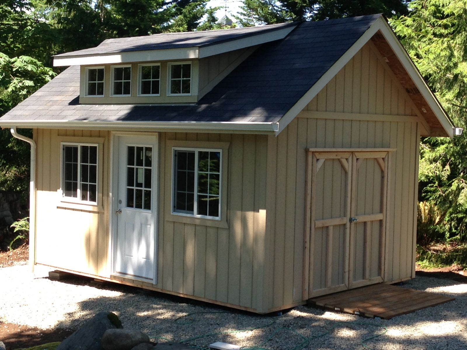 Garden Cottage Style With Dormer Storage Garden Shed Tool Shed