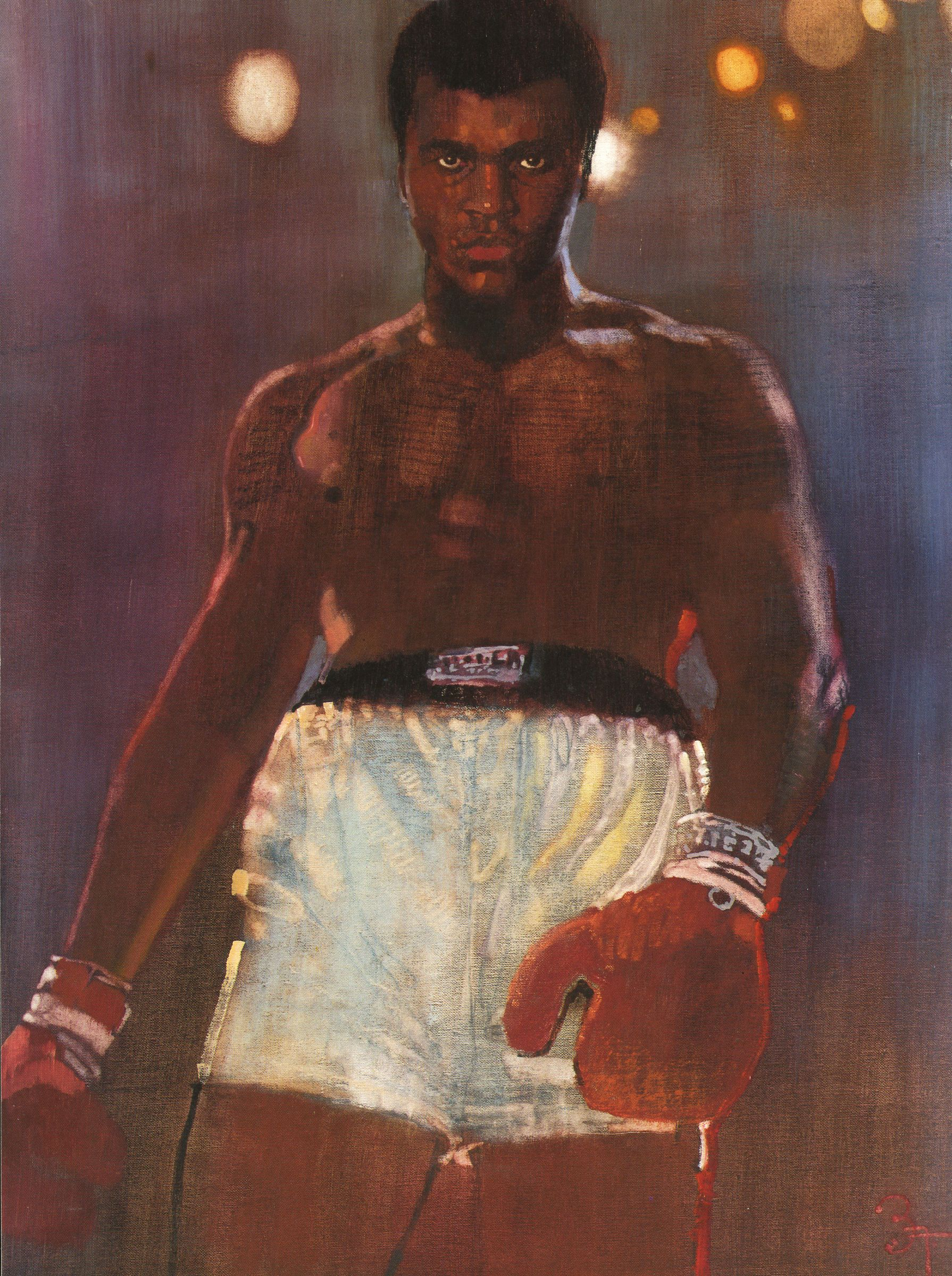 Muhammad Ali painted by Bernie Fuchs