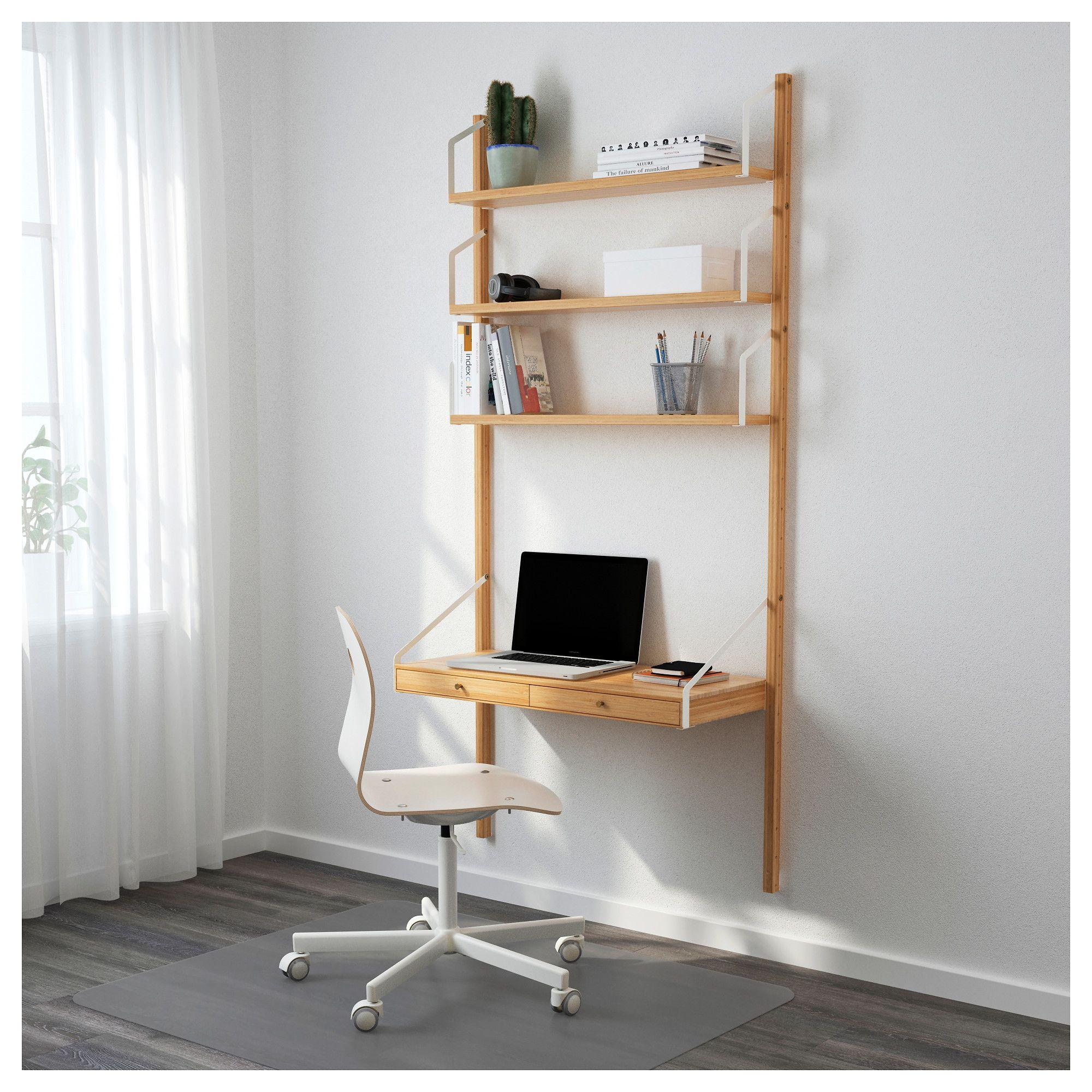 "IKEA SVALN""S Wall mounted storage bination bamboo"