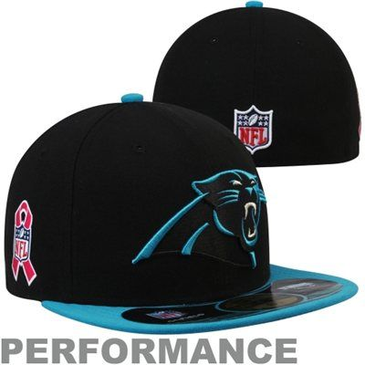 New Era Carolina Panthers Breast Cancer Awareness On-Field 59FIFTY Fitted  Performance Hat - Black  BCA 93c3636fbf91