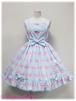 angelic pretty Marchen Ribbon胸切替ジャンパースカート