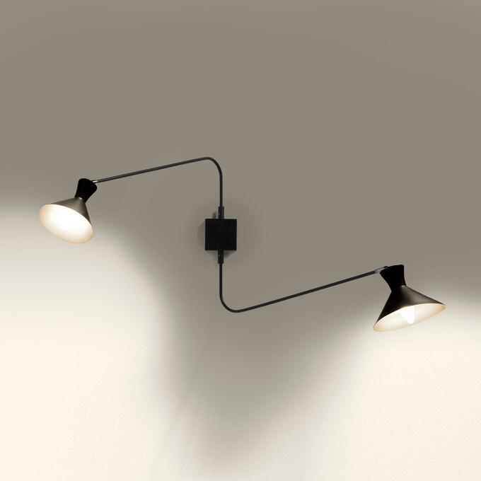 Wandleuchte Voltige 2 Arme Lampen Und Leuchten Lampen Wohnzimmer Wandleuchte