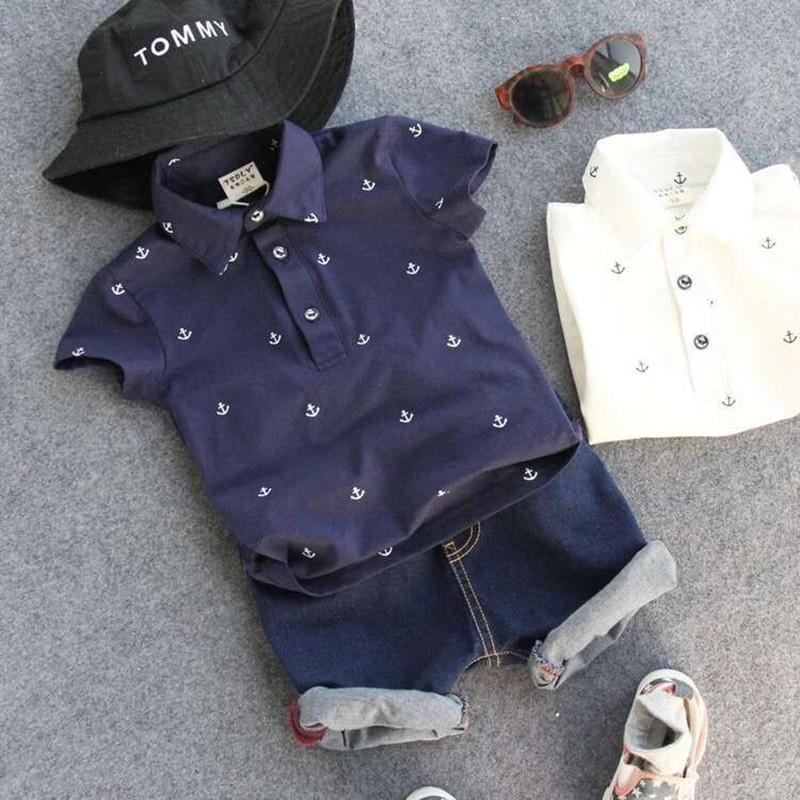 e72ef29886af It's time to get on a boat with this nautical boys two piece polo and shorts