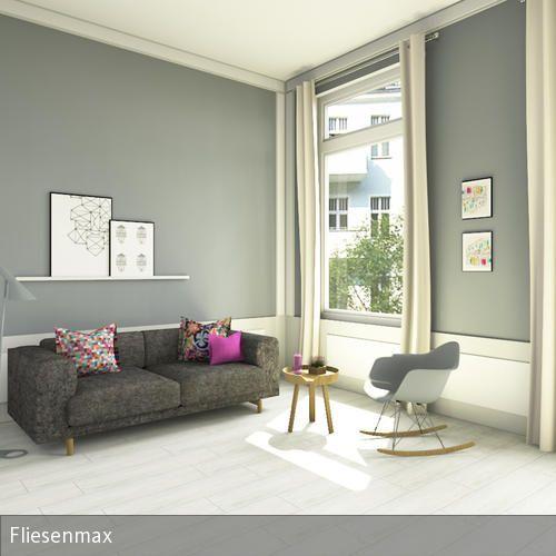 Altbau Wohnzimmer In Hellen Farben... V.a. Graue Wände