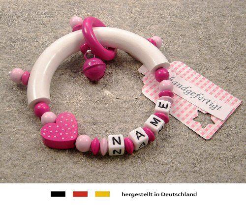 baby greifling bei ring halbrund mit namen individuelles. Black Bedroom Furniture Sets. Home Design Ideas