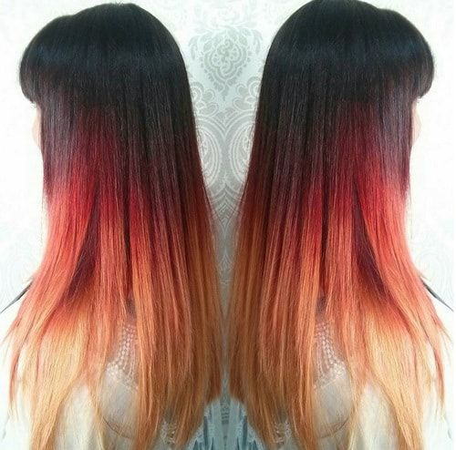 Ombre Hair Black To Brown Straight