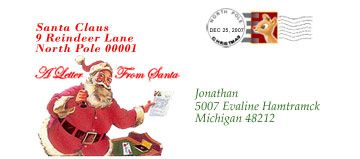 Envelope From Santa Templates Free  My Dear Santa Letter  Santa