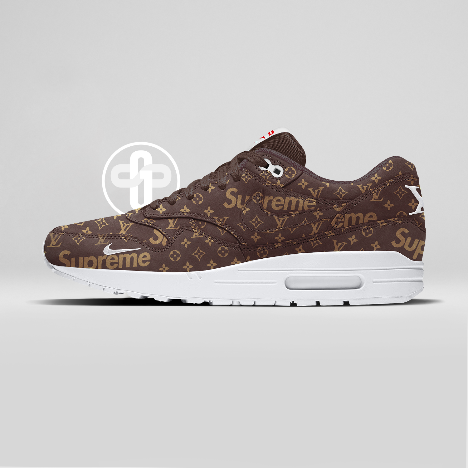 best service 3f6fa 6285a Louis Vuitton x Supreme x Nike Air Max 1 Dark Chocolate