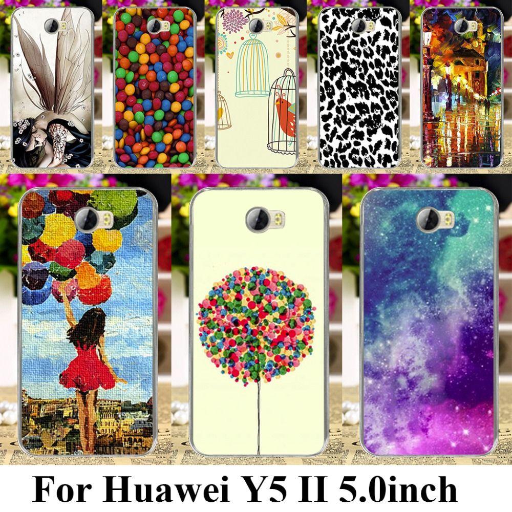 Morbida case cover per huawei y5 ii y6 ii mini cun-u29 y5 2 y5ii y5 2nd 5.0 pollice lyo-l21 candy bella modello y6 ii compatto borse