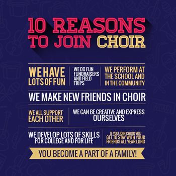 Choir Recruiting Poster Choir, Music classroom and Students