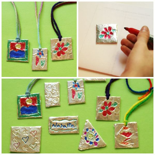 Foil pendant craft for kids continue reading pendants and craft foil pendant craft for kids make and takes aloadofball Gallery