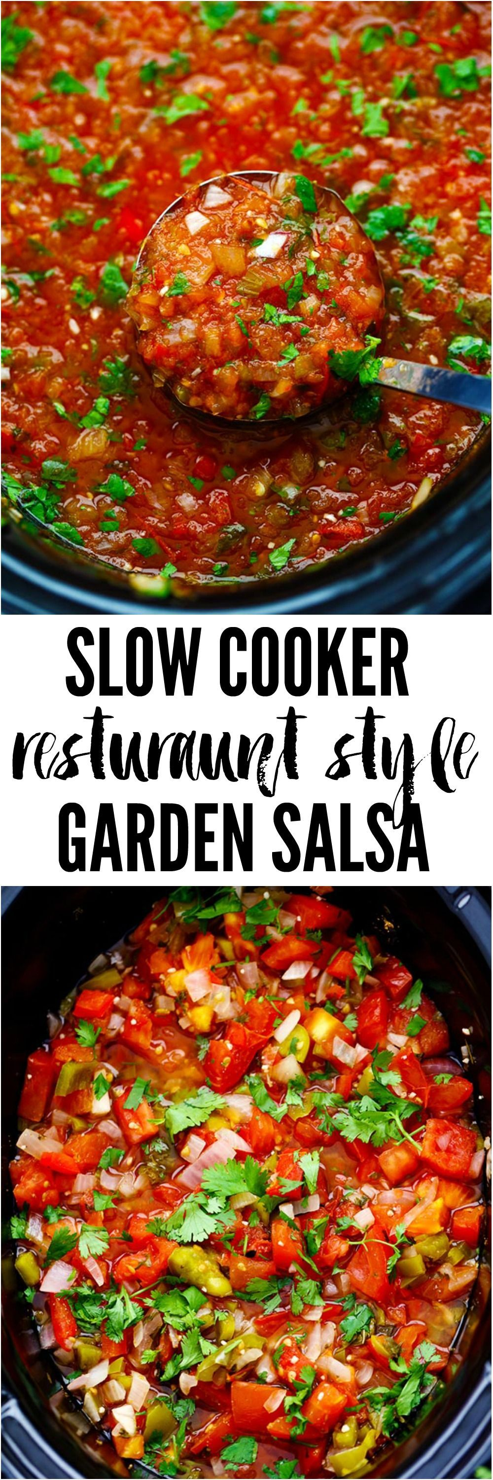 Slow Cooker Restaurant Style Garden Salsa Slow Cooker Restaurant Style Garden Salsa has so many delicious and fresh ingredients and uses up all of those garden tomatoes. It is so… Cooker Restaurant Style Garden Salsa Slow Cooker Restaurant Style Garden Salsa has so many delicious and fresh ingredients and uses up all of those garden tomatoes. It is so…Slow Cooker Restaurant Style Garden Salsa has so many delicious and fresh ingredients and uses up all of those garden tomatoes. It is so…