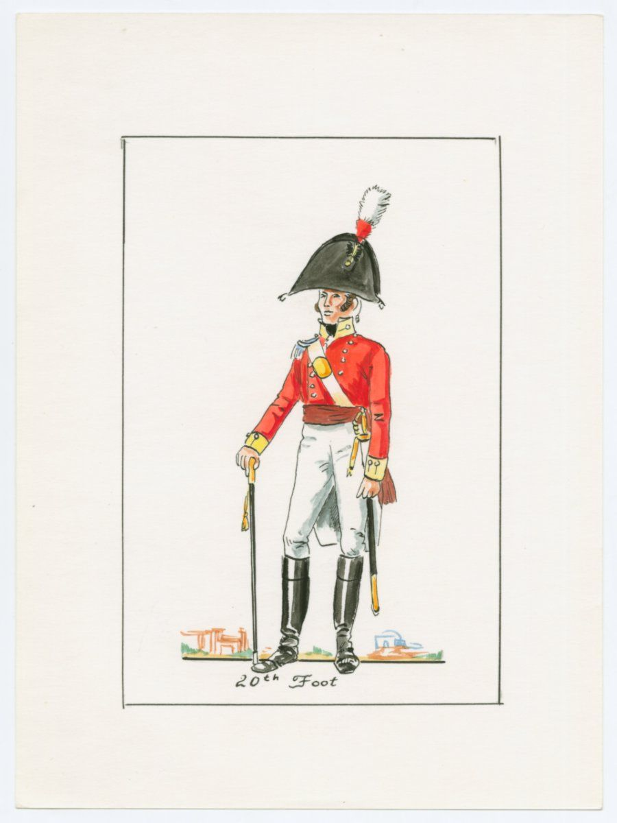 British; 20th (East Devonshire) Regiment of Foot, Officer