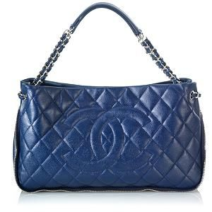 Chanel Quilted Caviar Expandable Shoulder Handbag  7ddd665f9b382