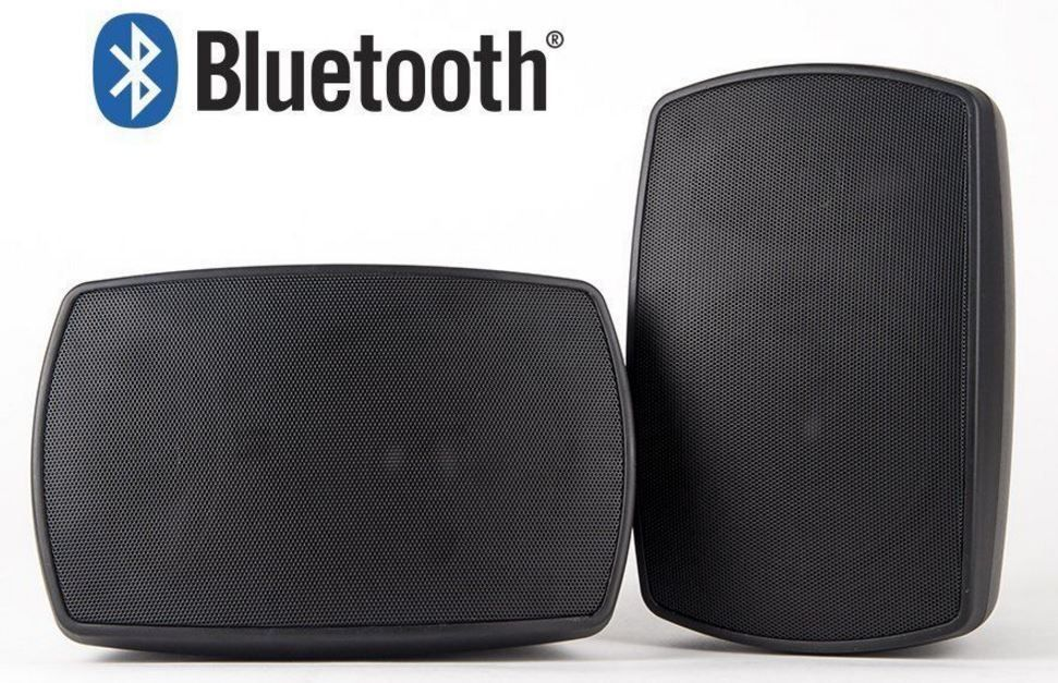 Bluetooth Outdoor Patio Speakers Deck Pool Porch Indoor 75w Premium Sound Black Osd Pool Porch Pool Decks Outdoor Bluetooth Speakers
