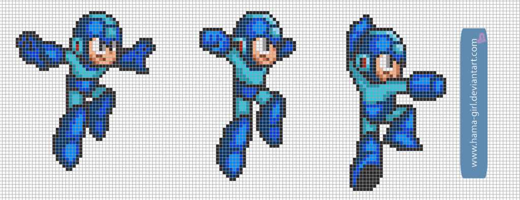 Megaman Pack 3 By Hama Girl Deviantart Com On Deviantart Mega Man Vault Boy Smurfs