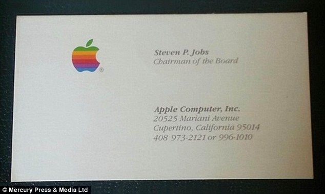Steve Jobs Business Cards Sell For 10 000 At Auction