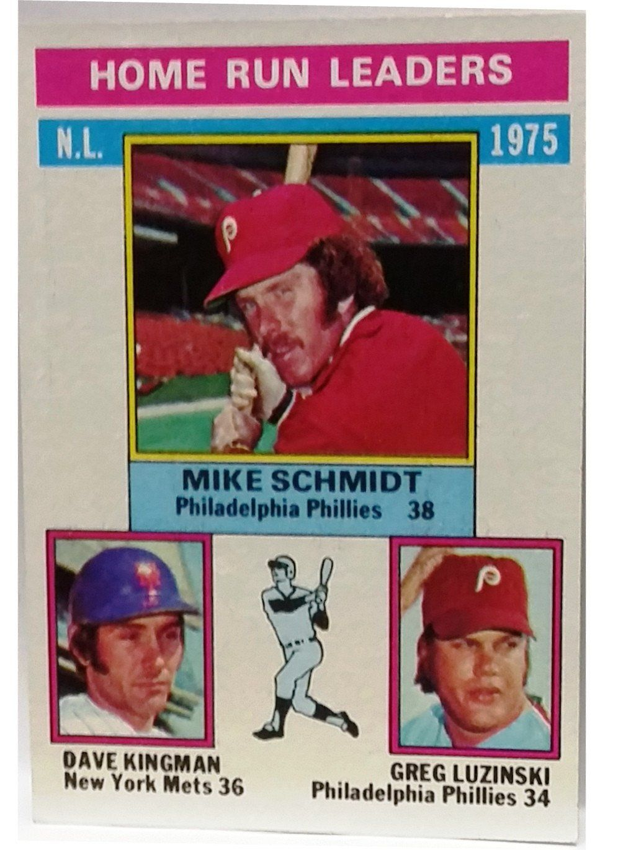 1976 Topps #193 1975 N L  Home Run Leaders (Schmidt, Kingman