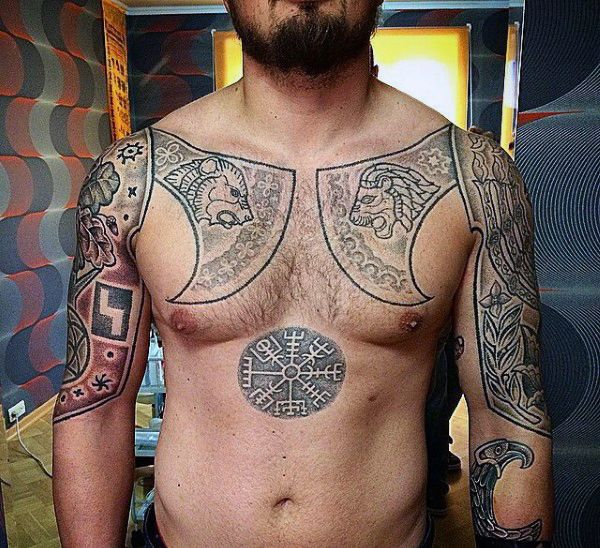 upper chest mens viking rune tattoo tattoo pinterest viking rune tattoo viking runes. Black Bedroom Furniture Sets. Home Design Ideas