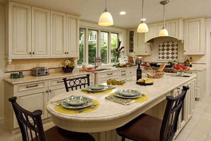 extension on kitchen island | granite kitchen table