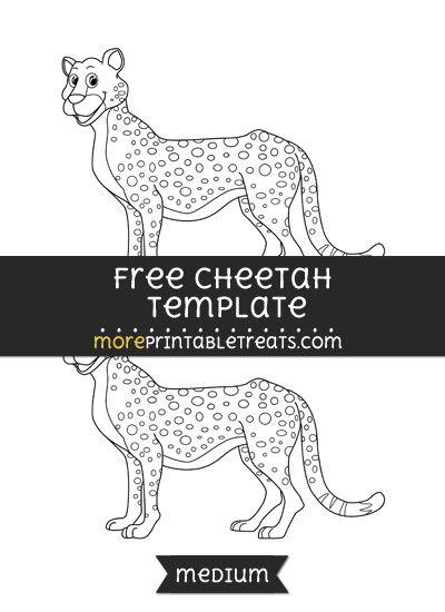 Free Cheetah Template - Medium | Shapes and Templates Printables ...