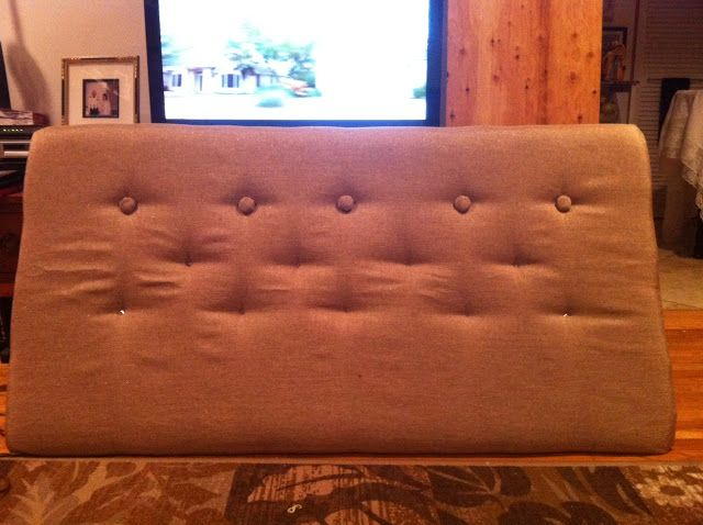 Diy faux tufted headboard for 20 tutorial diy Homemade headboard ideas cheap