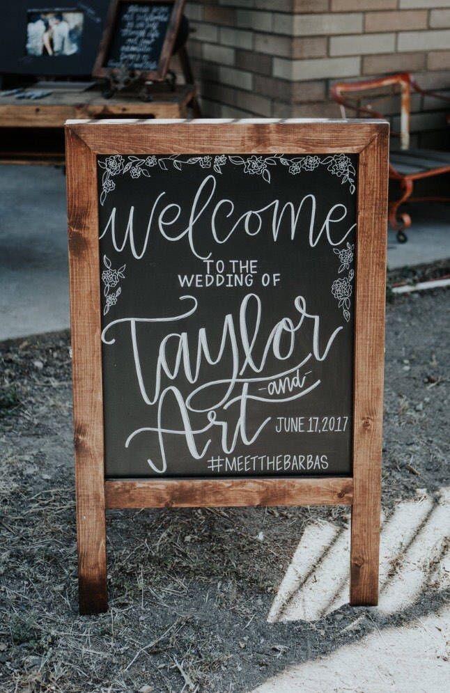 One Sided Wedding Welcome Sign Wedding Sandwich Board Welcome To