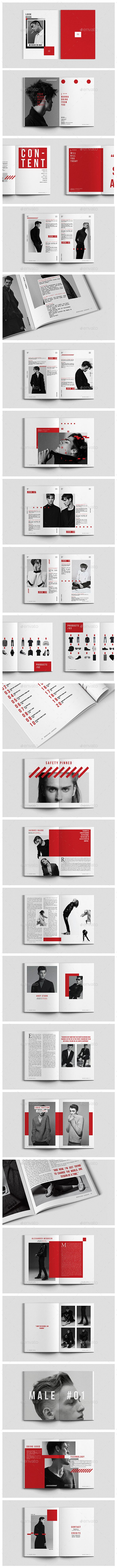 Fashion Magazine Lookbook Magazines Print Templates