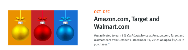 5 Back Categories For Holiday Shopping At Dept Stores Amazon Target Walmart Paypal Holiday Shop Rewards Credit Cards Walmart App