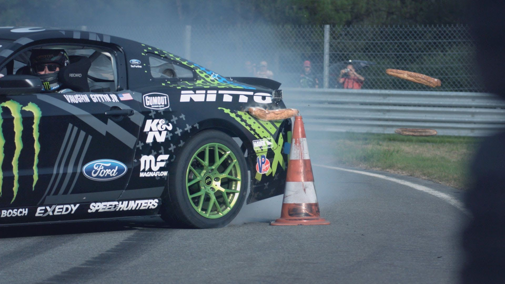 Mustang In France With Vaughn Gittin Jr Mustang Ford Mustang Ford