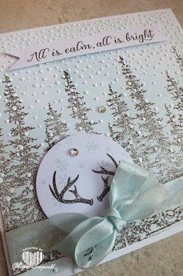 Magical Scrapworld: Stampin' up!, Christmas card, Wonderland, softly falling, christmas card