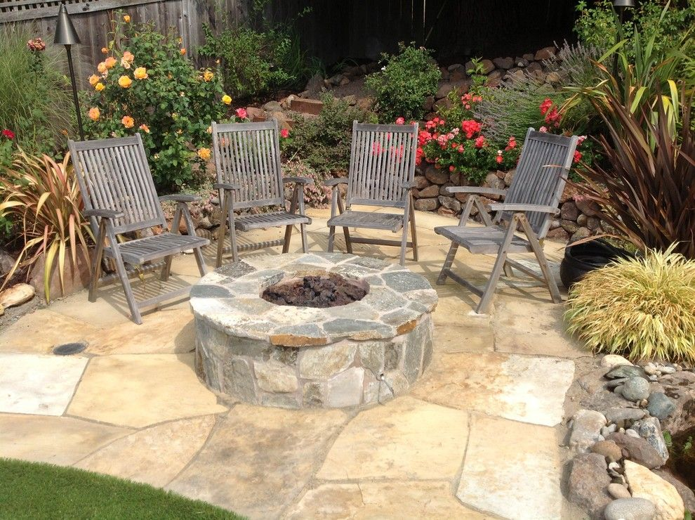 flagstone patio with fire pits patio innovative designs with
