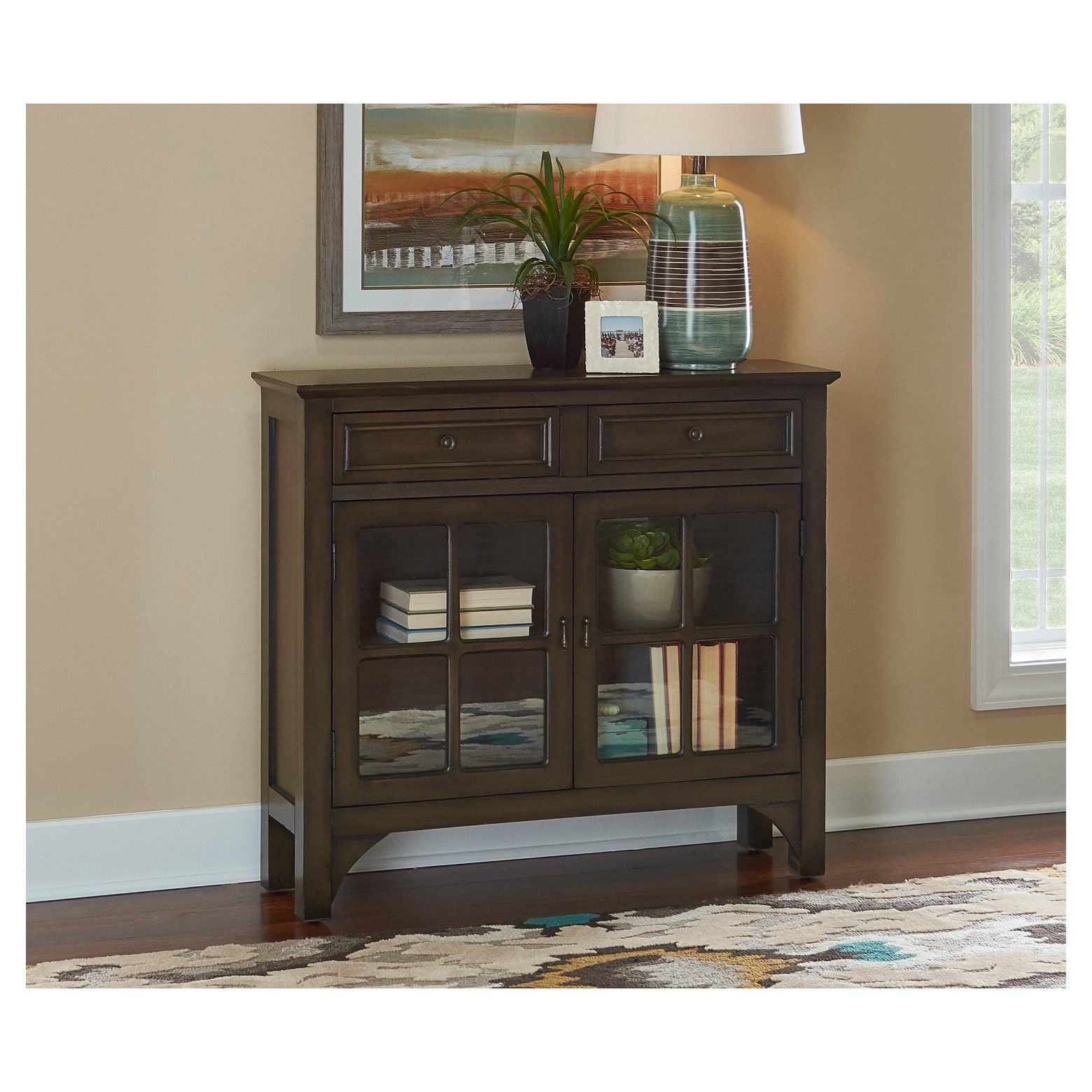 Powell pany Campbell Console Table Oak Grove Collection
