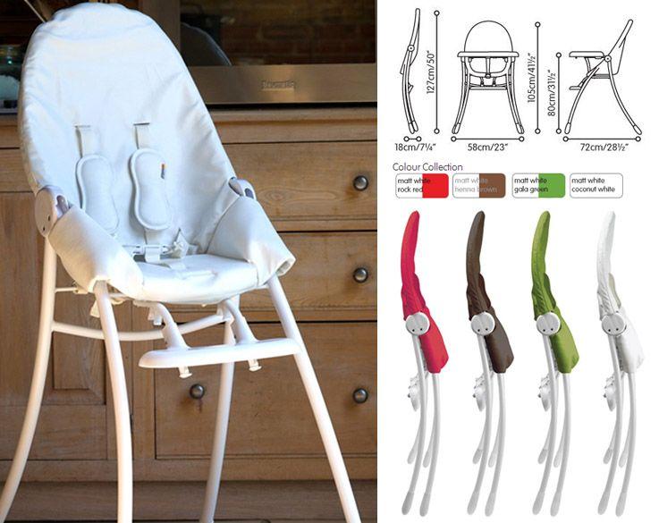 Contemporary Bloom Nano Urban Highchair White Frame UrbanBaby Luxury - Fresh bloom baby Trending