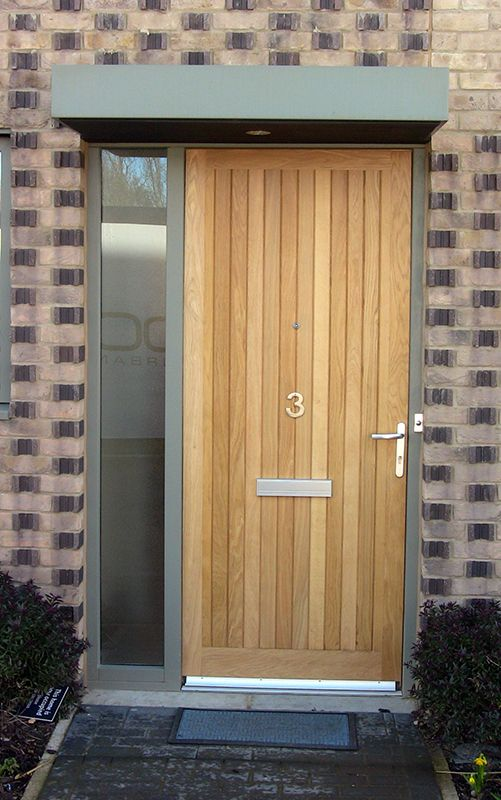 Lovely Wooden Front Doors with Side Panels