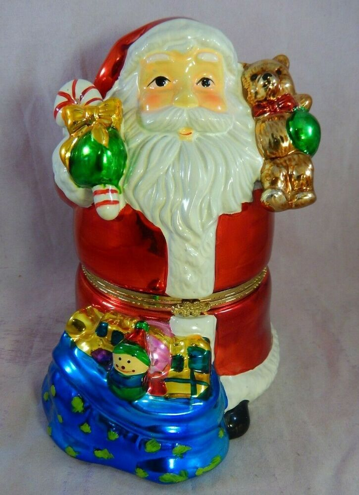 Mr christmas santa music box inner rotating children