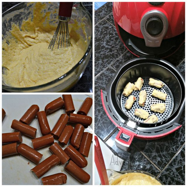 Cooking Airfried Mini Corn Dogs Air Fryer In 2018 Pinterest