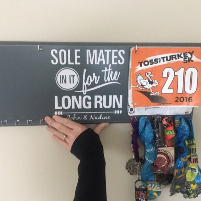 Sole Mates Running Medal Holder From Strut Your Stuff Sign Co Nadine Isabell Added A