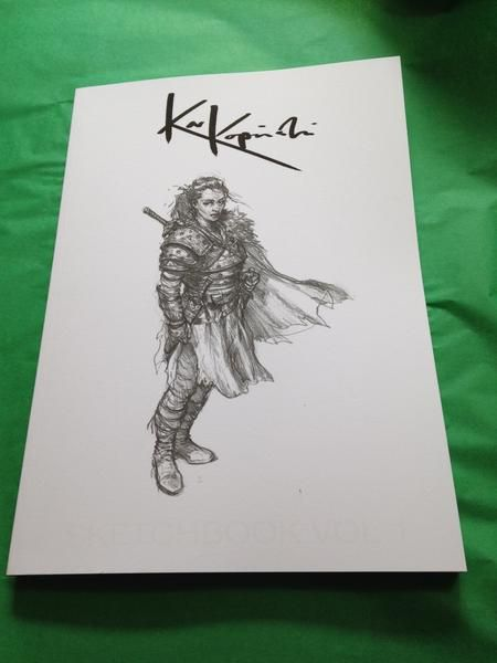signed copy of sketchbook vol 1 a4 soft matte cover with uv spot varnish detail